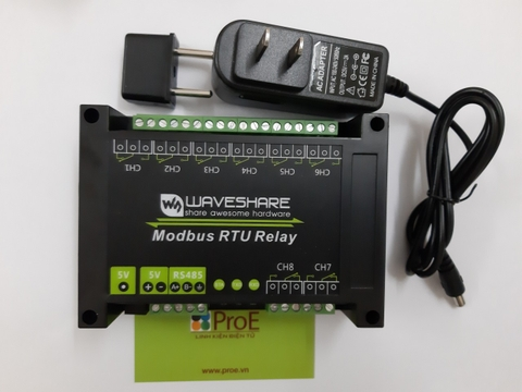 Modbus RTU Relay (EN) Industrial Modbus RTU 8-ch Relay Module, RS485 Bus, Multi Protection