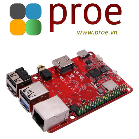 Rock Pi X B4E32 SBC/ Mini PC - Intel Atom x5-Z8350 CPU with 4GB LPDDR3 RAM, 32GB eMMC, Wi-Fi, Bluetooth, PD 2.0, QC 3.0 and PoE support