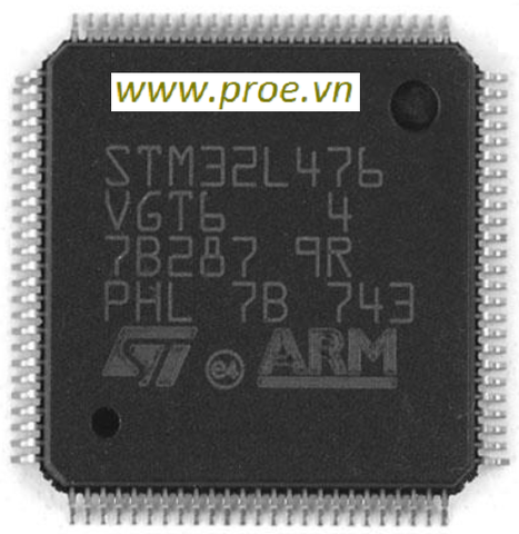STM32L476VGT6 MCU 32-bit ARM Cortex M4 RISC 1MB Flash 1.8V/2.5V/3.3V 100-Pin LQFP Tray