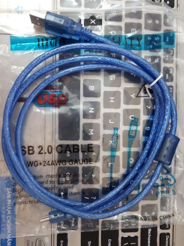 Cable USB 2.0 - A Male to mini B Male, 1,5m