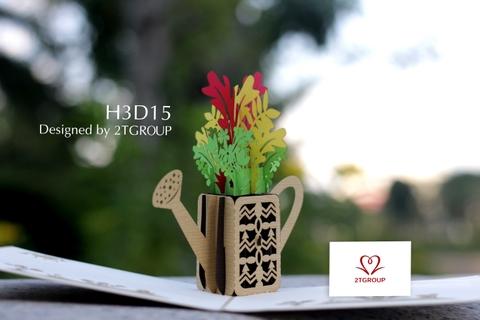 H3D15 - BÌNH TƯỚI HOA
