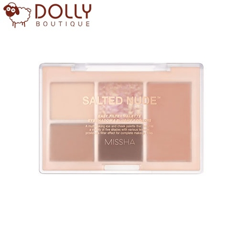 BẢNG PHẤN MẮT VÀ MÁ MISSHA EASY FILTER SHADOW PALETTE NO.1 SALTED NUDE