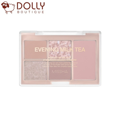 SET PHẤN MẮT VÀ MÁ HỒNG MISSHA EASY FILTER PALLETE NO.5 EVENING MILK TEA