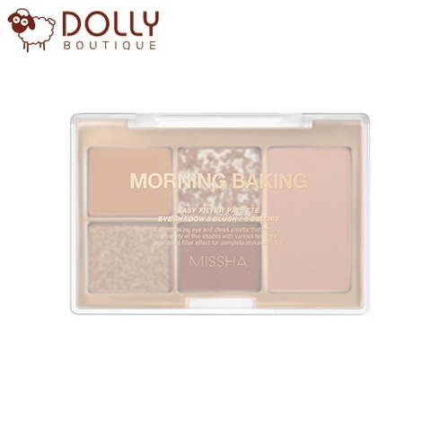SET PHẤN MẮT VÀ MÁ HỒNG MISSHA EASY FILTER PALLETE NO.4 MORNING BAKING
