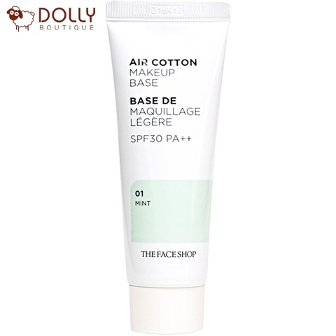 KEM LÓT THE FACE SHOP MAKE UP BASE AIR COTTON #MINT ( DA MỤN)
