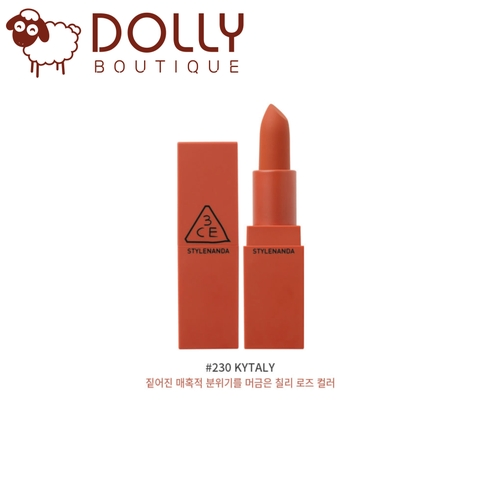 SON MÔI 3CE LIP COLOR MATTE #230 KYTALY