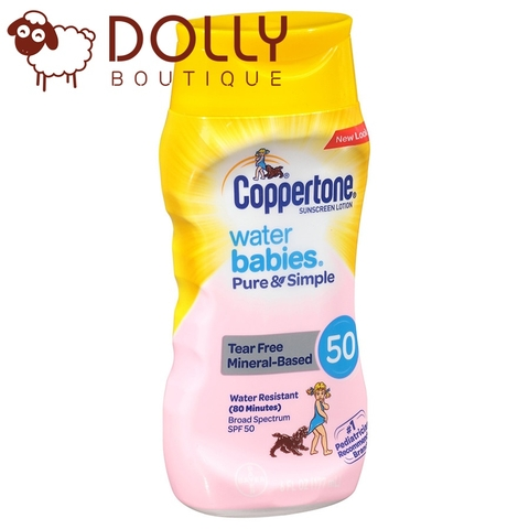 KEM CHỐNG NẮNG COPPERTONE WATER BABIES PURE & SIMPLE SUNCREEN LOTION SPF 50