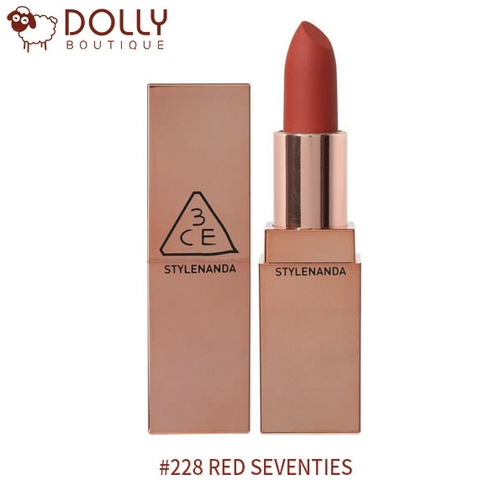 SON THỎI 3CE MATTE LIP COLOR #228 RED SEVENTIES