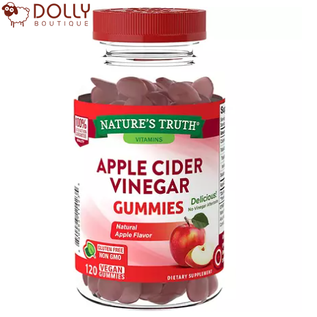 KẸO DẺO GIẤM TÁO NATURE'S TRUTH APPLE CIDER VINEGAR GUMMIES 120 VIÊN