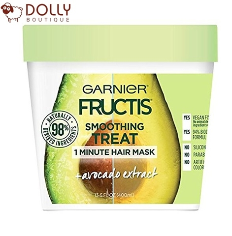 Ủ TÓC GARNIER FRUCTIS SMOOTHING TREAT 1 MINUTE HAIR MASK WITH AVOCADO EXTRACT