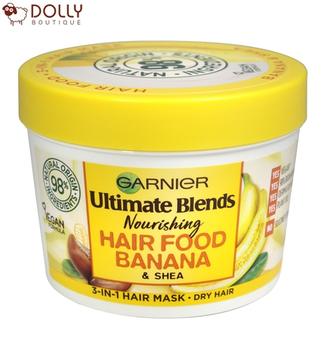 Ủ TÓC GARNIER ULTIMATE BLENDS HAIR FOOD BANANA 3 IN 1 MASK