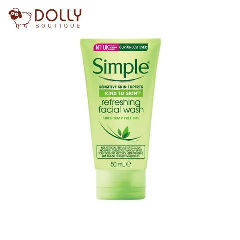 SỮA RỬA MẶT SIMPLE KIND TO SKIN REFRESHING FACIAL WASH GEL 50ML