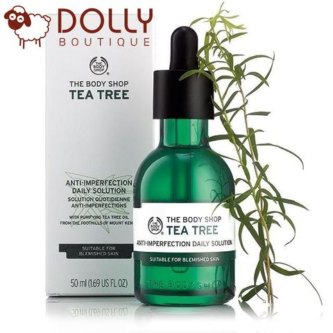 HẠN DÙNG: 4/2022. TINH CHẤT CHO DA MỤN THE BODY SHOP TEA TREE ANTI-IMPERFECTION DAILY SOLUTION