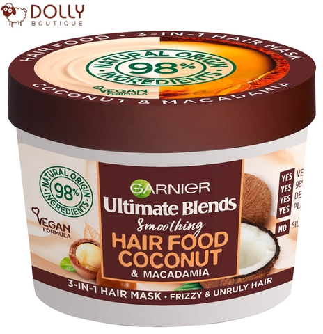 Ủ TÓC GARNIER ULTIMATE BLENDS HAIR FOOD COCONUT 3 IN 1 MASK