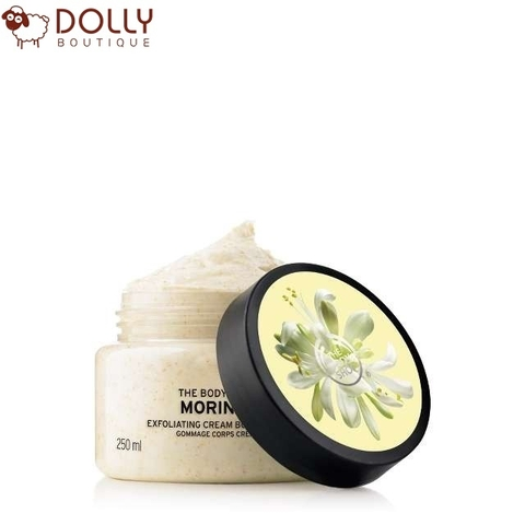 TẨY DA CHẾT CƠ THỂ THE BODY SHOP MORINGA EXFOLIATING  CREAM BODY SCRUB