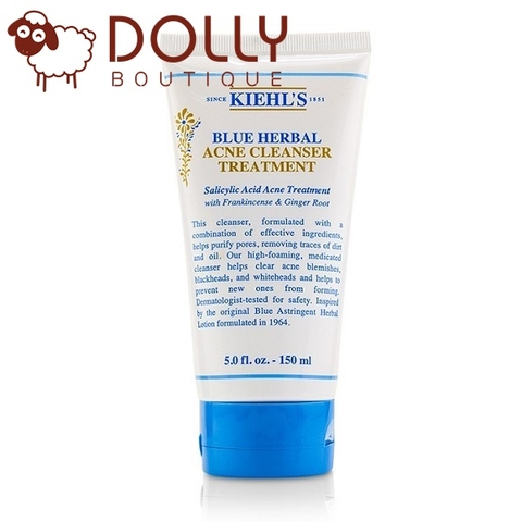 SỮA RỬA MẶT KIEHL'S GEL BLUE HERBAL BLEMISH CLEANSER TREATMENT
