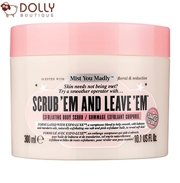 TẨY DA CHẾT CƠ THỂ SOAP & GLORY - SCRUB 'EM AND LEAVE' EM BODY SCRUB MIST YOU MADLY