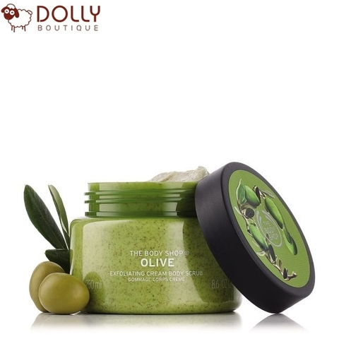 TẨY DA CHẾT CƠ THỂ THE BODY SHOP OLIVE EXFOLIATING CREAM BODY SCRUB