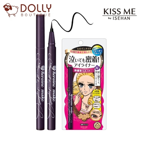 BÚT KẺ MẮT KISS ME HEROINE MAKE SMOOTH LIQUID EYELINER SUPER KEEP