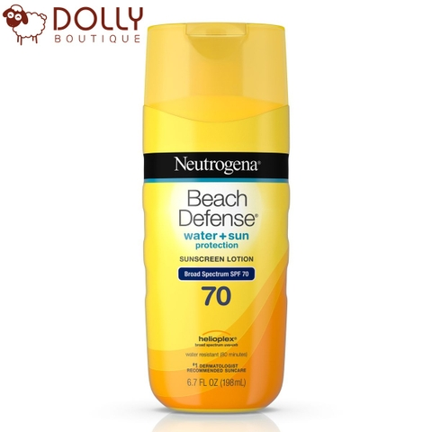 KEM CHỐNG NẮNG NEUTROGENA BEACH DEFENSE SUNSCREEN LOTION SPF70 198ML