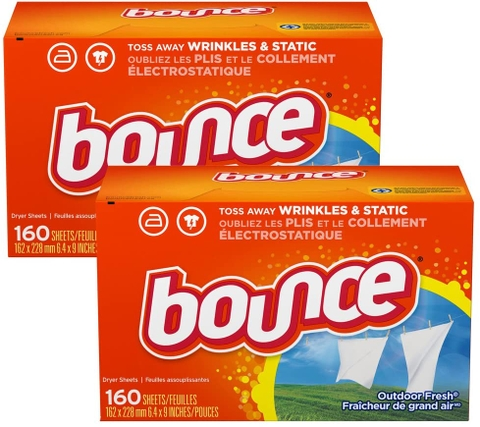 GIẤY THƠM BOUNCE FABRIC SOFTENER DRYER SHEET OUTDOOR FRESH 160 TỜ