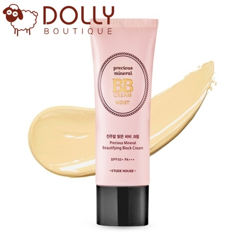 KEM NỀN ETUDE HOUSE PRECIOUS MINERAL BEAUTIFYING BLOCK CREAM MOIST SPF50+/PA+++