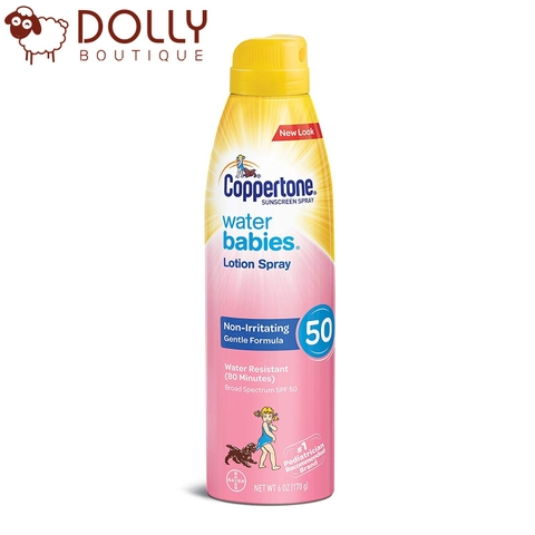 KEM CHỐNG NẮNG COPPERTONE WATER BABIES LOTION SPRAY 170G
