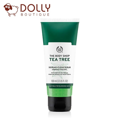TẨY DA CHẾT MẶT THE BODY SHOP TEA TREE SQUEAKY-CLEAN SCRUB