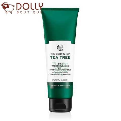 MẶT NẠ THE BODY SHOP TEA TREE 3-IN-1 WASH SCRUB MASK