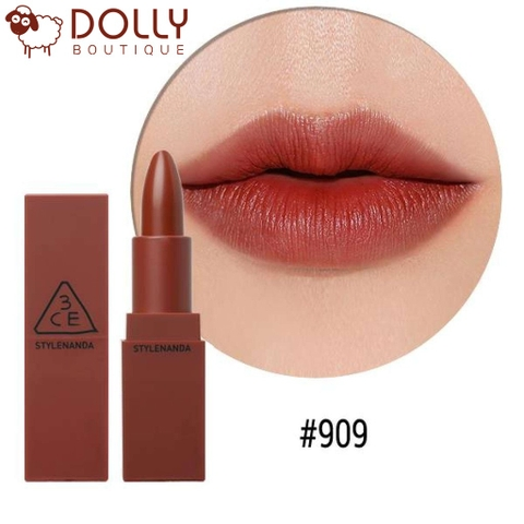 SON MÔI 3CE COLOR MATTE #909 SMOKED ROSE