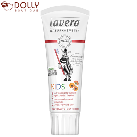 KEM ĐÁNH RĂNG TRẺ EM LAVERA KIDS TOOTHPASTE HEALTHY PROTECTION FOR MILK TEETH