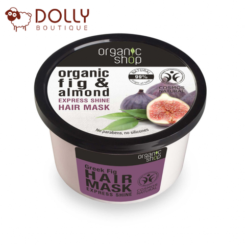 MẶT NẠ TÓC ORGANIC SHOP GREEK FIG & ALMOND EXPRESS SHINE HAIR MASK