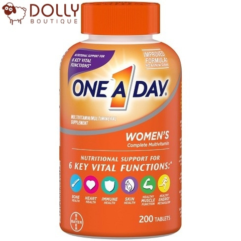 VIÊN UỐNG ONE A DAY WOMEN'S HEALTH FORMULA MULTIVITAMIN (300 ct.)