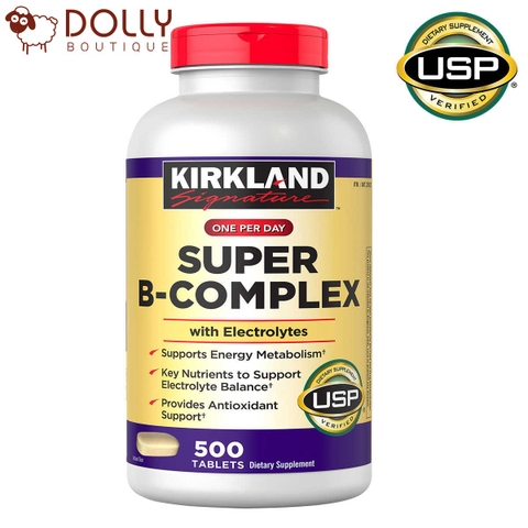 KIRKLAND SIGNATURE SUPER B-COMPLEX WITH ELECTROLYTES, 500 TABLETS