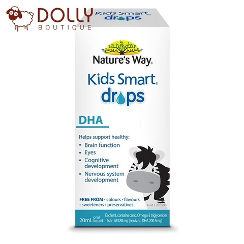 DHA DẠNG GIỌT NATURE'S WAY KIDS SMART DHA DROPS, 20ML