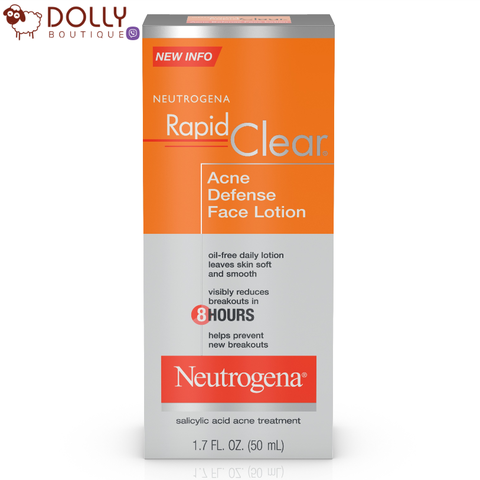 KEM DƯỠNG ẨM NEUTROGENA RAPID CLEAR ACNE DEFENSE FACE LOTION