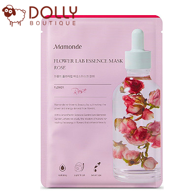 MẶT NẠ GIẤY MAMONDE ROSE MOISTURIZING FLOWER LAB ESSENCE MASK