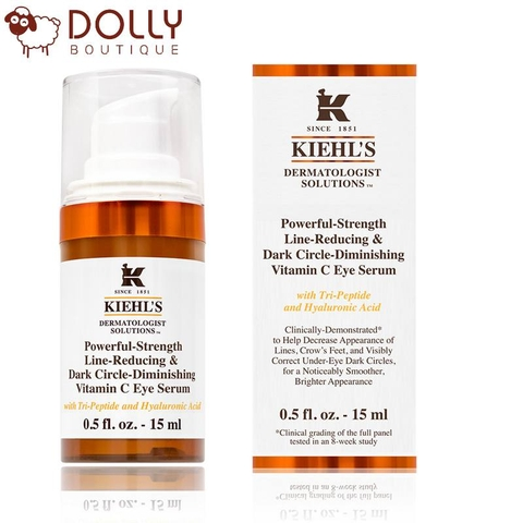 TINH CHẤT DƯỠNG MẮT KIEHL'S POWERFUL-STRENGTH LINE-REDUCING & DARK CIRCLE-DIMINISHING VITAMIN C EYE SERUM 15ML