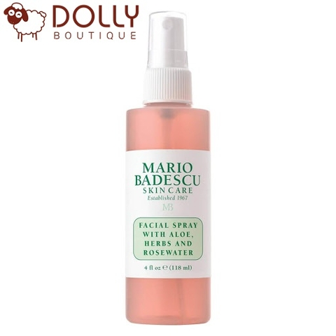 NƯỚC HOA HỒNG DẠNG XỊT MARIO MADESCU FACIAL SPRAY WITH ALOE, HERBS AND ROSE WATER 118ML