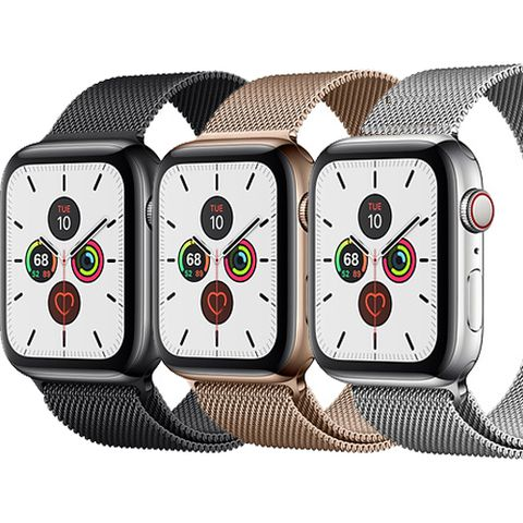 Apple Watch Series 5 LTE Mặt Thép 40mm Dây Milanese
