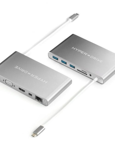 HYPERDRIVE ULTIMATE USB-C HUB FOR MACBOOK, PC, USB-C DEVICES