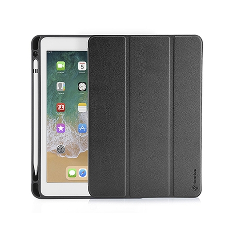 BAO DA TOMTOC (USA) SMART COVER SLIM WITH PEN HOLDER FOR IPAD 9.7 INCH 2018 (IPAD GEN 5) BLACK