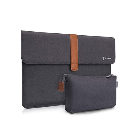 "TÚI CHỐNG SỐC TOMTOC (USA) ENVELOPE + POUCH MACBOOK AIR/RETINA13"" NEW DARK GRAY"