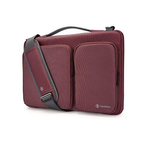 TÚI ĐEO TOMTOC (USA) 360* SHOULDER BAGS MACBOOK 13″ RED