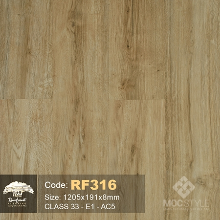 Rainforest 8mm - Sàn gỗ Rainforest RF316