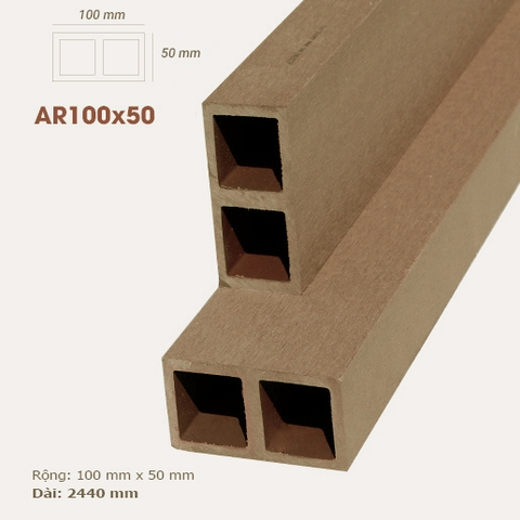 Thanh lam gỗ AWood AR100x50 Wood