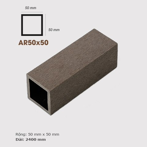 Thanh lam gỗ AWood AR50x50 Coffee