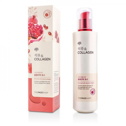 NƯỚC HOA HỒNG POMEGRANATE AND COLLAGEN VOLUME LIFTING TONER THE FACE SHOP