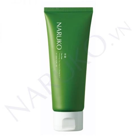 Sữa Rửa Mặt Đất Sét Tràm Trà Naruko Tea Tree Purifying Clay Mask and Cleanser in 1 Đài Loan