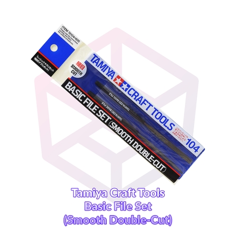 Tamiya Basic File Set (Smooth Double-Cut) [74104]